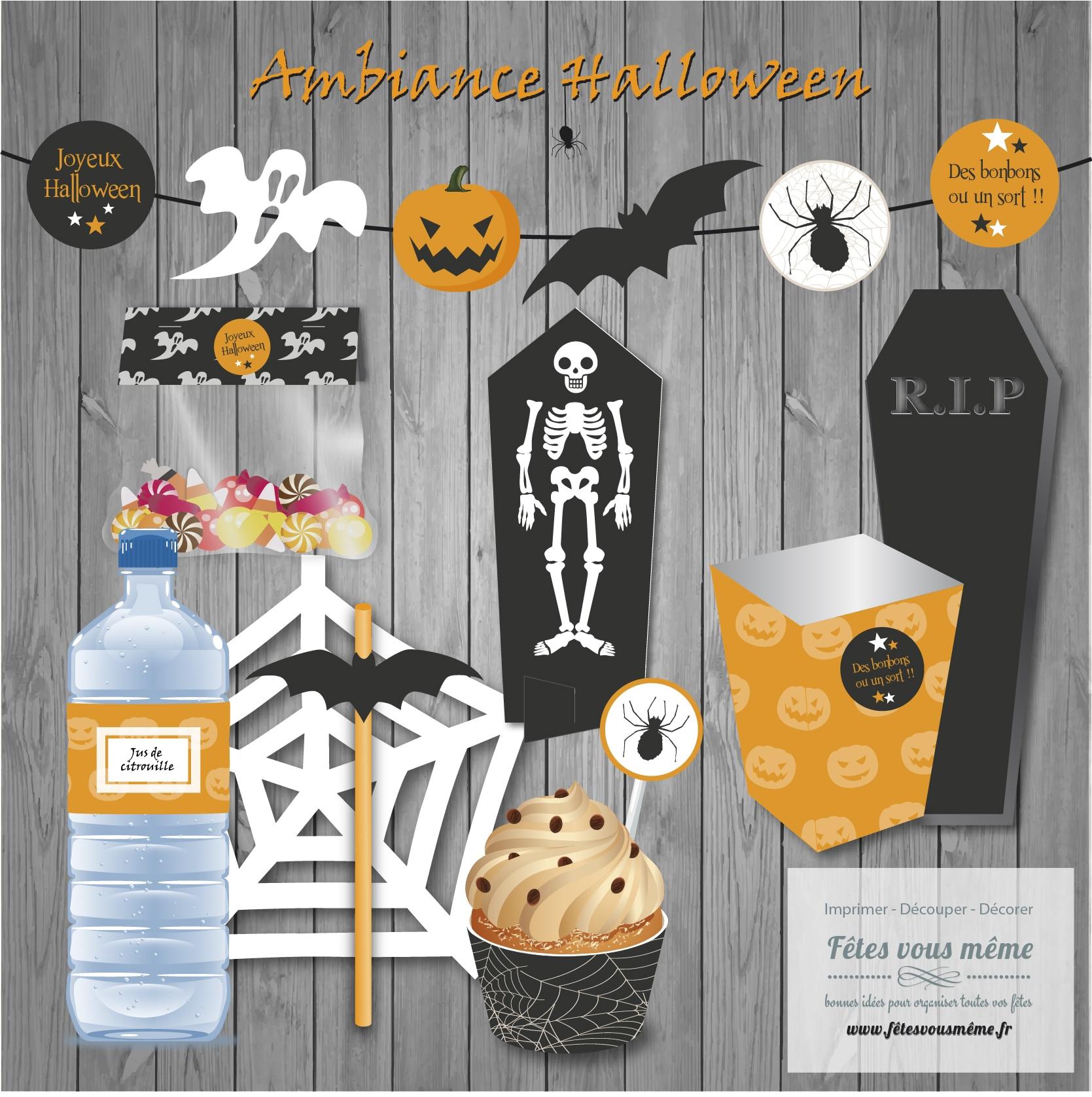 Kit ambiance Halloween et D.I.Y.