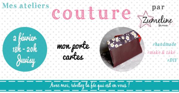 atelier couture zumeline juvisy porte cartes fevrier 2018