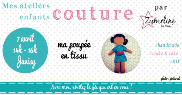 atelier couture enfants essonne juvisy poupee en tissu