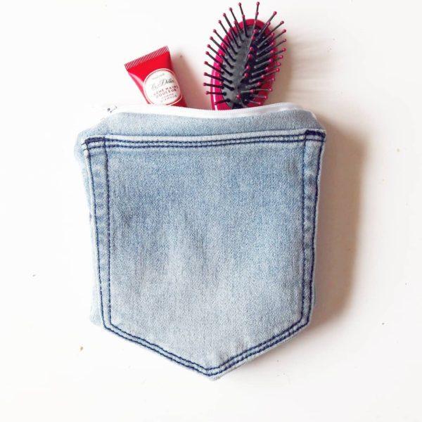 porte monnaie jean recyclé atelier couture juvisy essonne zumeline