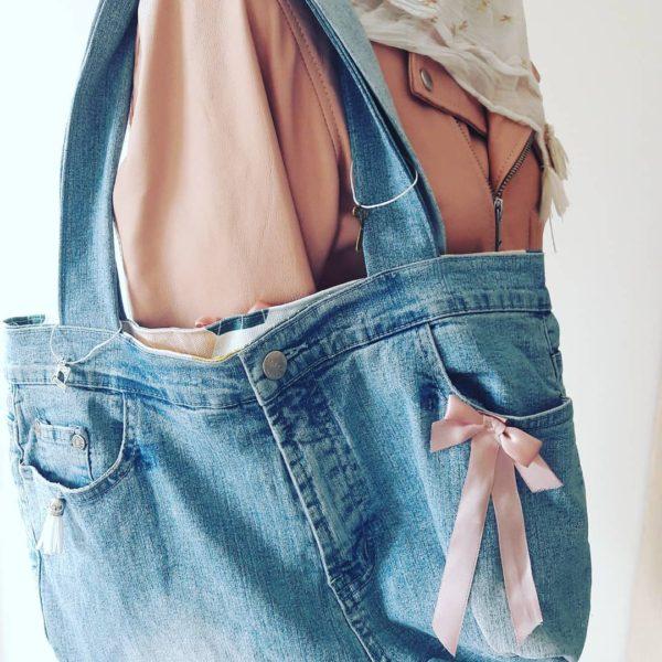 sac jean recyclé atelier couture juvisy essonne zumeline