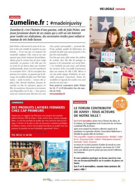 Zumeline dans la presse de Juvisy Grand Paris Sud
