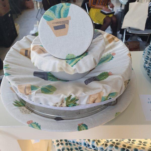 couvercles réutilisables cuisine zéro déchet cactus