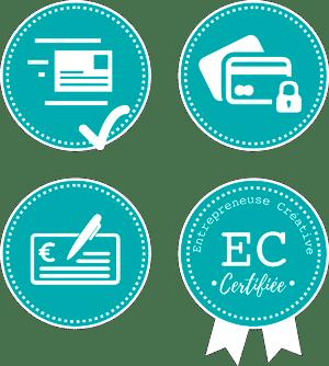 Envoi suivi, paiement sécurisé, chèque accepté, créative certifiée !