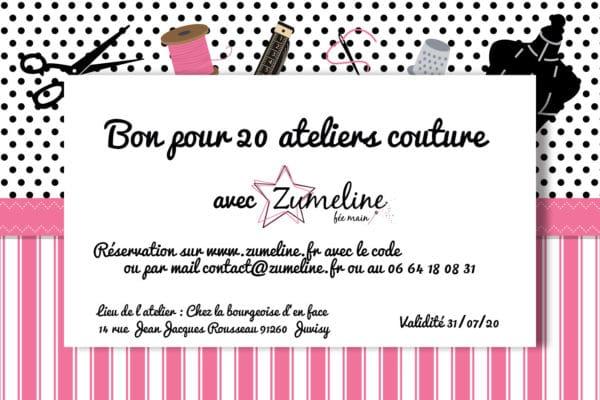 carte cadeau cheque zumeline 20 atelier couture