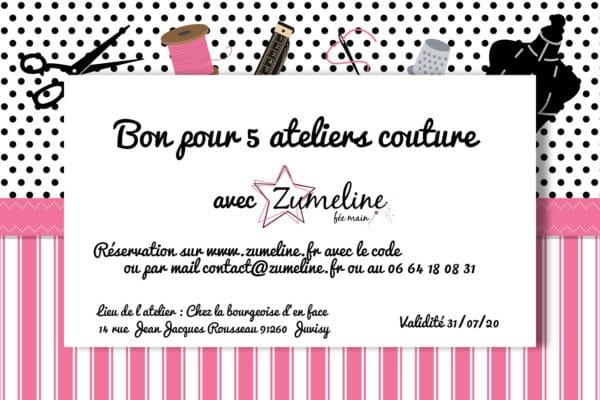 carte cadeau cheque zumeline 5 atelier couture