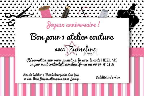 carte cadeau cheque zumeline enfant 1 atelier couture