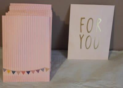 Pochette cadeau pour les invités