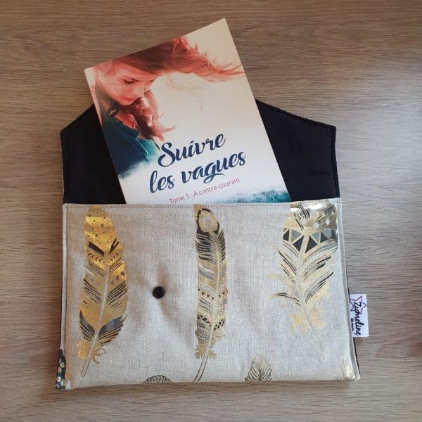 Anaïs W zumeline pochette livre or fait main