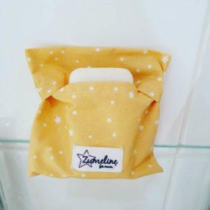 pochette savon jaune étoiles zumeline zéro déchet juvisy