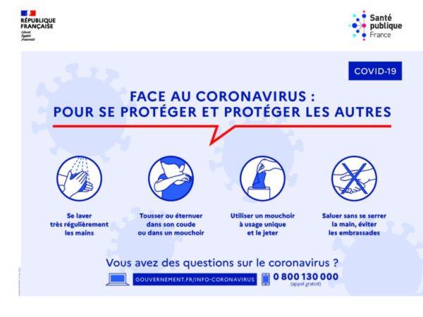 affiche recommandations protection coronavirus covid 19 zumeline
