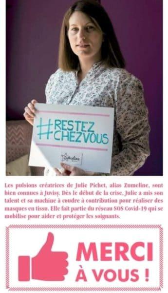 article presse zumeline journal ville juvisy solidarite coronavirus