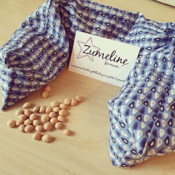 zumeline bouillotte seche noyaux cerises atelier couture