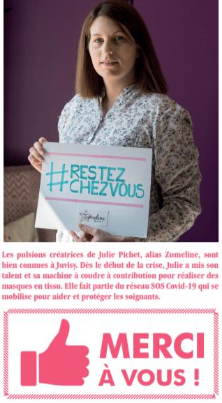 zumeline solidarité confinement covid 19 juvisy magazine